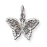 BUTTERFLY CHARM 10k White Gold 10WC23