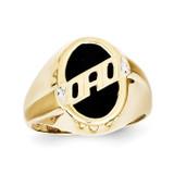 Men's Diamond and Black Onyx DAD Ring 10k Gold 10X147