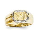 Mens Ring Mounting 10k Gold 10X164B