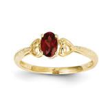 Garnet Diamond Ring 10k Gold 10XB274