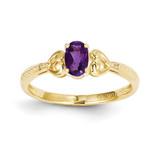 Purple Amethyst Diamond Ring 10k Gold 10XB275