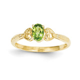 Peridot Diamond Ring 10k Gold 10XB281