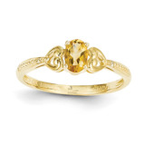 Citrine Diamond Ring 10k Gold 10XB284