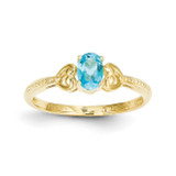 Light Swiss Blue Topaz Diamond Ring 10k Gold 10XB285