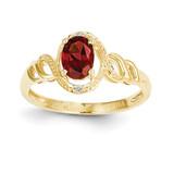 Garnet Diamond Ring 10k Gold 10XB298