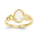Genuine Opal Diamond Ring 10k Gold 10XB307
