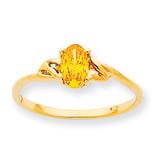 Polished Geniune Citrine Birthstone Ring 10k Gold 10XBR140