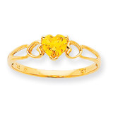 Polished Geniune Citrine Birthstone Ring 10k Gold 10XBR164
