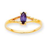 Polished Geniune Rhodolite Garnet Birthstone Ring 10k Gold 10XBR183