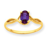 Polished Geniune Rhodolite Garnet Birthstone Ring 10k Gold 10XBR231