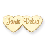 Double Heart Nameplate 10k Gold 10XNA111Y
