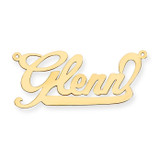 0.013 Gauge Polished Nameplate Pendant 10k Gold 10XNA129Y
