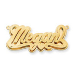 Satin Diamond-cut 3D Nameplate 10k Gold, MPN: 10XNA236Y