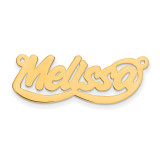 0.013 Gauge Polished Nameplate 10k Gold, MPN: 10XNA76Y