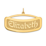 Curved Nameplate 10k Gold, MPN: 10XNA87Y