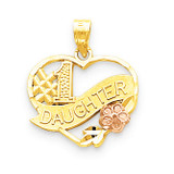 #1 Daughter Charm 10k Gold 10YC101