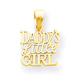 Daddy's Little Girl Charm 10k Gold 10YC27