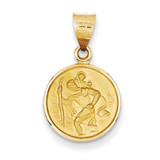 18k Gold Saint Christopher Medal Pendant 18XR13