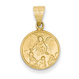 18k Gold Guardian Angel Medal Pendant 18XR23