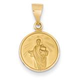 18k Gold Saint Jude Medal Pendant 18XR30