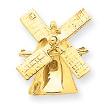 Wind Mill Charm 14k Gold A0116