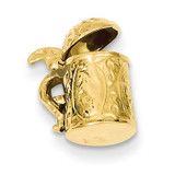 3-D Beer Stein Charm 14k Gold A0301/L