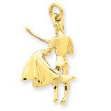 Matador Charm 14k Gold A0387