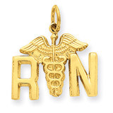 Registered Nurse Charm 14k Gold A0390