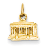 Lincoln Memorial Charm 14k Gold A0409/L