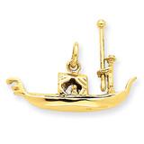 Gondola Charm 14k Gold A0434