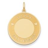 Happy Anniversary Charm 14k Gold A0552