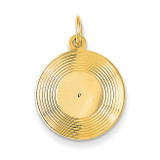 Record Album Charm 14k Gold A0564/L
