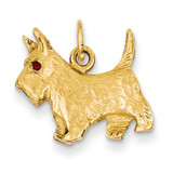 Scottie Dog Charm 14k Gold A0845