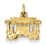 Cable Car Charm 14k Gold A1074