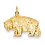 Bear Charm 14k Gold A1158