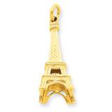 Eiffel Tower Charm 14k Gold A1175