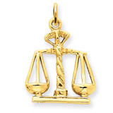 Scales Of Justice Charm 14k Gold A1493