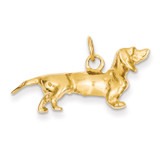Dachshund Dog Charm 14k Gold A1551