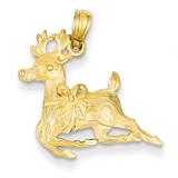 Reindeer Pendant 14k Gold Polished A1589