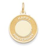 Happy Anniversary Charm 14k Gold A1953