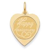 Happy Anniversary Charm 14k Gold A1999/L