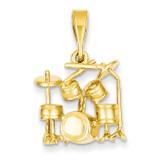 Drum Set Charm 14k Gold A2188