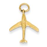 Jet Charm 14k Gold A4278/L