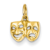 Comedy Tragedy Charm 14k Gold A4855