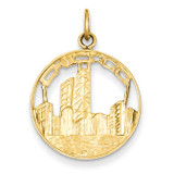 Chicago Skyline Charm 14k Gold A4990