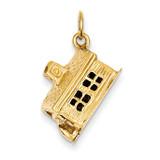 Schoolhouse Charm 14k Gold A7277