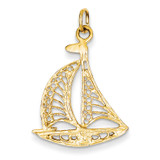 Sailboat Charm 14k Gold A9086