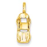 Sports Car Charm 14k Gold A9394