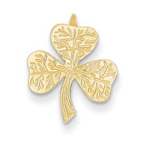 Shamrock Chain Slide 14k Gold A9502