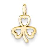 Heart Clover Charm 14k Gold A9503